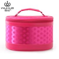 Big fog flower dot cosmetic bag professional portable women's handbag large capacity cosmetic bag