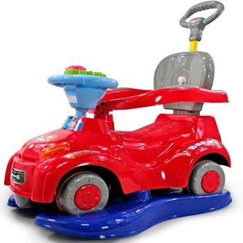 Toy car belt guardrail scooter multifunctional trolley baby swing car