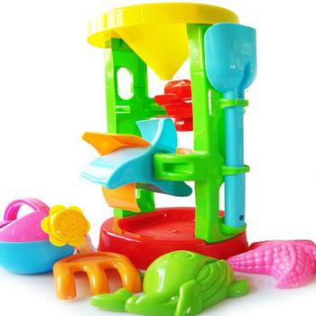 Oversized beach waterwheel toy hourglass funnel sand play water bathroom child