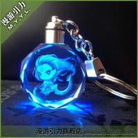Diana gravitational crystal led lighting keychain