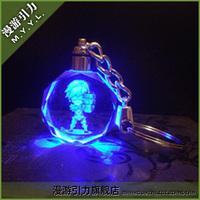 Gravitational ez crystal led lighting keychain