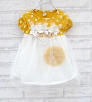 2014 summer New  Children's clothing baby girls clothes kids tutu dress girl dress with flower