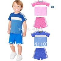wholesale 2014 HOT good_baby Kids outfits Boys & Girls T shirt + shorts Children's Clothing Leisure sports sets 2pcs ,5sets/lot