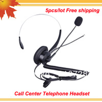 Office Telephone Headset call center headset with RJ09 Modular Connection 5 pcs lot free shipping free