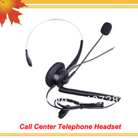 Professional Monaural call center phone headset direct with RJ09 plug telephone earphone (2 pcs / lot)