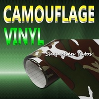 Camouflage Skin Auto Sticker Vinyl Roll with Air Bubble 15.2*30M