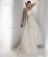 Wholesale - Elie Saab Wedding dress Style Pisces Ivory Strapless Beach Floor Beading