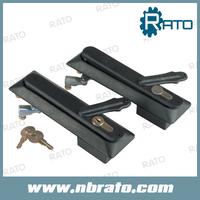 Black Push Cabinet Swing Handle Lock