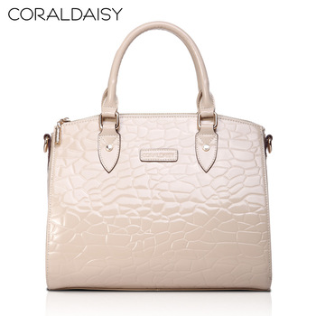 Coraldaisy  New  2013   Crocodile Grain Fashion Handbags  Satchel Women  Cowhide Handbag Women Messenger Bag  Woman