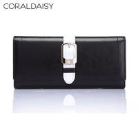Coraldaisy  Wallet   New  2013 Oil Wax Wallets  Hasp Purse  Wallet  Women Leisure Bump Color Bag