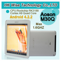 2013 hot 9.7 inch Aoson M30Q RK3188 Quad Core Android 4.2 2GB RAM 16GB ROM WIFI Bluetooth \john