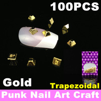 100pcs/bag Metal Alloy Punk Nail Art Tips Craft, Phone Laptop 3D Decoration + Free Shipping