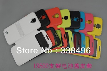 Free Shipping-S View Flip Leather Wallet flip hinge Case Cover with stand /sleeping function For Samsung Galaxy S4 i9500