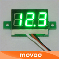 "Вольтметр 100 PCS/LOT 0.36"" Yellow Digital Meter Motorcycle Voltmeter LED 0-30.0V DC Volt Car Voltage Monitor 3 Bit Display #090905"