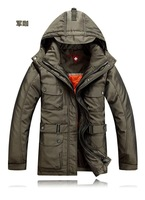 Free Shipping,Men, Down jacket,Down, boy, fashion, casual, thick, hooded, short style,overcoat coat