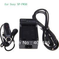 EU Plug BATTERY CAR CHARGER for Sony NP-FW50 NEX3 NEX-5 5R F3 NEX-6 NEX7 A33 A35 A55+Free shipping