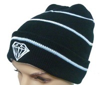 Diamond Beanies hats fit for men and women very beautiful strip caps top quality freeshipping