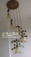 4 ! fashion lamp rustic lighting lamps of flowers and plants d8068-5 crystal sand 5 stair lamp
