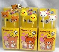 Free shipping Care bear Rilakkuma earphone For iPhone, galaxy note,tap, Nokia, sony, PSP 10pcs/lot