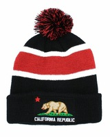 California republic Beanie Beanie Hats black cheap online black sports caps freeshipping