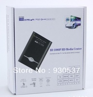 """Best sellers 1080P Full HD 2.5"""" SATA HDMI HDD Media Player RM MKV H.264 SD USB HD Support 3D video,Free shipping."""