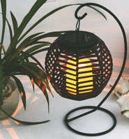 The new solar rattan hanging lights hanging lantern solar garden lights garden lights blue lights