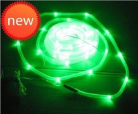 100LED string lights green holiday lights solar led garden lights Christmas lights neon tube