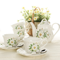 Ceramic 9 coffee fashion tea set coffee cup coffee pot set hoaxed