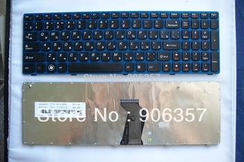 Original Keyboard FOR IBM Lenovo B570 B575 series laptop  RU/Russian NEW with blue frame