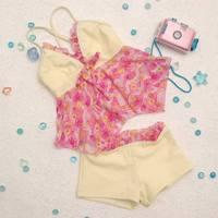 free shipping Child swimwear bribed 2011 girl split swimsuit g107
