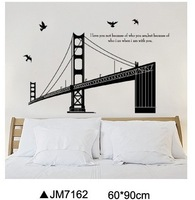 JM7162 milky film PVC transparent film removable wall stickers removable wall stickers of three generations sea bridge