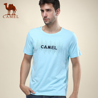 Camel men's clothing o-neck casual 100% T-shirt short-sleeve cotton shirt lovers clothes