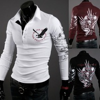 New Fashion 2014 Men's T-shirt, Eagle Design, Hot Selling , Free shipping, Wholesale and Retail,3Colors, Full Sizes