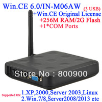 N380W thin client box with RDP customized with 256M Ram 2G Flash 1 COM port embeded WIN.CE 6.0 with original COA black 3 USB