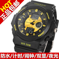 Male multifunctional waterproof outside sport vintage quartz watch electronic watch lovers watch
