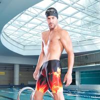 free shipping 2013 swimwear professional sports digital male long swimming pants line 7103