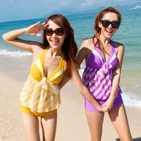 free shipping 2013 female swimwear sexy fashion steel split swimsuit 1346