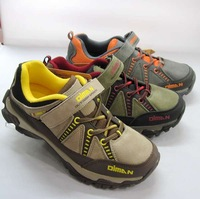 Spring and autumn large children outdoor sport shoes full leather hiking shoes children 9085 38 - 42