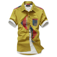 2013 male shirt short-sleeve shirt casual male short-sleeve shirt slim men's fashion boys