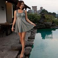 free shipping Swimwear skirt style swimwear small push up swimwear women's one-piece swimsuit