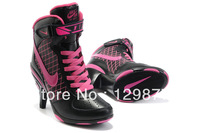 Free shipping 2013 new arrive fashion pumps woman high heels sneakers for women sneakers women sports shoes Black with pink