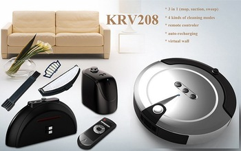 ROBOT 2013 perfect gift Intelligent Household robot vacuum cleaner KRV208 free shipping by dhl/ fed ex