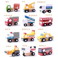 2013 free shpping cute mini cars model japanese style doll 12 pcs a set kids toys wooden toy with 3 styles