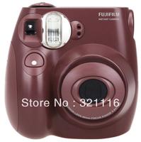 Fuji Fujifilm Instax Mini 7S Instant Film Camera with Sticker & Lens - Chocolate