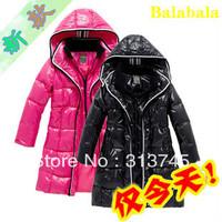 2013 winter 90% white duck down  Balabala medium-long balabala children's down coat clothing outerwear down jacket for girls A0C