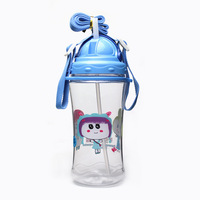 450ml plastic water bottle,PC water bottle with stainless steel filter,round.for sports,kids bottles,Cute bottle