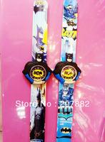 Free Shipping!200pcs/lot!2013 Hop Sale Batman Children Cartoon Slap Watch Silicone Rubber Digital Wristwatch for Kids A2718