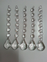 "Promotion 30pcs/lot, 6 crystal beads +38mm pendant, 7"" long crystal garland, chandelier decor parts. free shipping"
