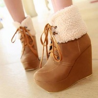 new arrival ladies boots .wedge-heeled Shoes.ankle boots.punk short boot .lace up pumps.heels shoes drop shipping  lb1028