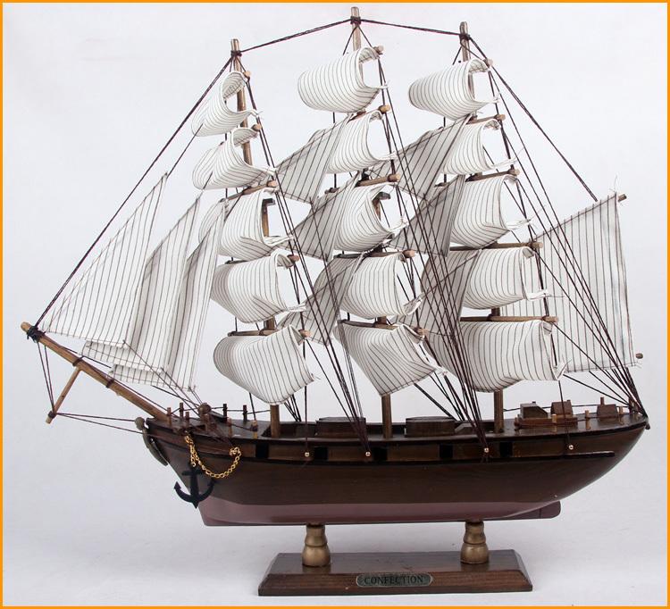 FREE P&P>> Large wood sailboat model decoration home gifts(China (Mainland))